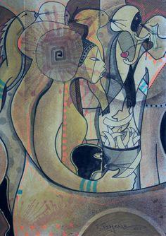 Última lágrima pintura de João timane