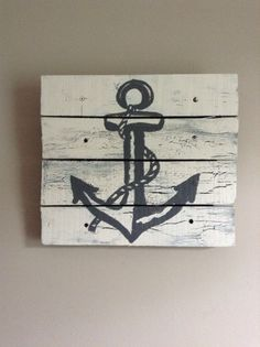 nautical side table pallet | wood pallet art,wood planks,nautical decor,kids baby bedroom,sail boat ...