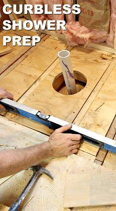 4 Whole Cool Ideas: Small Shower Remodel stand up shower remodeling modern.Shower Remodel Before And After Apartment Therapy small shower remodeling videos.Stand Up Shower Remodel Walk In. Welding Table, Shower Floor, Walk In Shower, Curbless Shower Pan, Rainfall Shower, Shower Pan Installation, Plumbing Installation, Bristol, Small Shower Remodel
