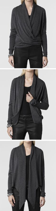 Wrap cardigan // can be worn three different ways!