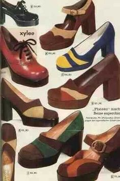 ffc37b448ad5 Platform shoes....b♡ Retro Fashion 70s