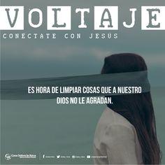Es Hora de Limpiar cosas que A Nuestro Dios no le agradan. #ConéctateConJesús http://devocional.casaroca.org/jv/09may