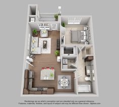 The Pointe at Bentonville | 2 Bedroom 2 Bath Richland floor plan