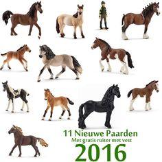 Schleich 11 New Horses 2016 + free 13455 - Schleich-shop