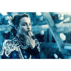 Noomi Rapace Poses for Michelangelo di Battista in Vogue Italia's... via Polyvore