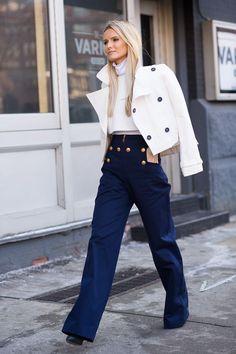 ways-to-wear-sailor-pants-fashionably-7 Sailor Pant Outfits-17 Ways to Wear Sailor Pants Fashionably