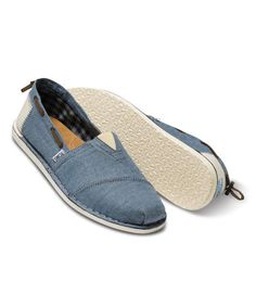 b3c1d60782 Loving this Blue Chambray Bimini on  zulily!  zulilyfinds Toms Shoes For Men