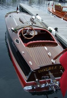 Sometimes you get ahead by looking back--this retro-look speedboat just oozes…