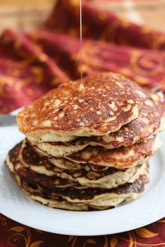 Quinoa Almond Pancakes Recipe from @Jeanette | Jeanette's Healthy Living