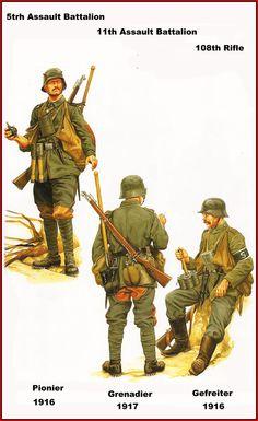 DEUTSCHES HEER - 5th - 11th Assault Bn & 108th Rifle - 1916/17