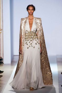 """The Cape dress """"Queen Style"""" at  Zuhair Murad  Spring Summer Couture 2013 #HauteCouture #HC #Fashion"""