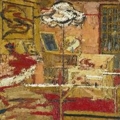 Frank Auerbach, 'The Sitting Room', 1964. Auerbach and Kossoff were friends. I have included this Auerbach painting as it references domesticity which links in to the work of Richard Hamilton.