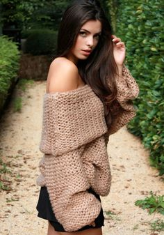 Cowl Neck Sweater in camel from @LookBookStore
