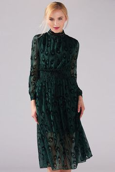 $69.99 Peacock Green Midi Dressproducts_id:(1000012966 or 1000012523 or 1000012691 or 1000012467)