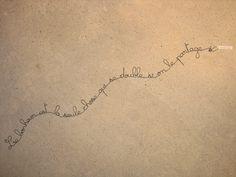 Ecriture en fil de fer - petite phrase