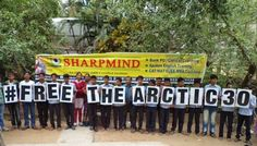 Students in Balasore, Odisha sent their support to #FreeTheArctic30