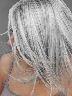 New hair, grey hair looks, silver grey hair, long gray hair, grey Grey Hair Looks, Silver Grey Hair, White Hair, Platinum Hair, Great Hair, New Hair, Hair Inspiration, Short Hair Styles, Hair Makeup