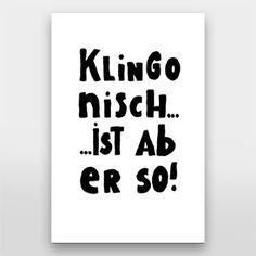 Klingonisch... ist aber so - Handlettering von Gelbkariert über artboxOne