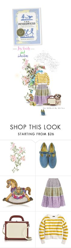 """""""""""The Penderwicks"""" by Jeanne Birdsall"""" by sammy-andrada ❤ liked on Polyvore featuring Monday, Judith Leiber, Anna October, Bertoni and J.Crew"""