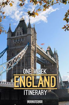 A one week England itinerary, including London, Bath, Stonehenge and Bristol -- the perfect first trip to England!