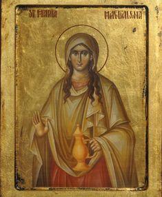 Icon of St. Noli Me Tangere, Byzantine Icons, Byzantine Art, Catholic Art, Catholic Saints, Religious Icons, Religious Art, Maria Magdalena, Religion