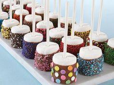 Sprinkled Marshmallow Pops