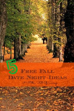5 Free Fall Date Night Ideas - A Mitten Full of Savings. this is for all the men out there who aren't creative enough. youre welcome sir.