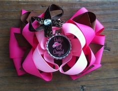 """""""Daddy's lil cowgirl"""" hair bow  $6 visit my Facebook page forever chic BOWtique"""