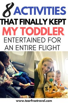 Taking a toddler on a airplane? Kids airplane travel can be tough! Here's my list of the best airplane tips for toddlers! These toddler airplane activities ACTUALLY kept my kids busy for more than 5 minutes on the plane. Forget the fluff, these toddler airplane tips will make travel with an infant or a toddler a breeze! Have fun on your next flight and keep your toddler calm!