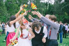 Rainbow DIY Wedding | Rock 'N Roll Bride