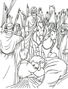 Triumphal Entry colouring page