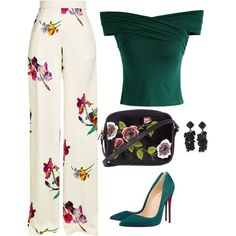 A fashion look from May 2017 featuring Chicwish tops, Etro pants e Christian Louboutin pumps. Browse and shop related looks. Classy Outfits, Stylish Outfits, Look Fashion, Womens Fashion, Fashion Tips, Elegantes Outfit, Looks Chic, Professional Outfits, Mode Inspiration