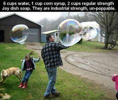 un-poppable bubbles
