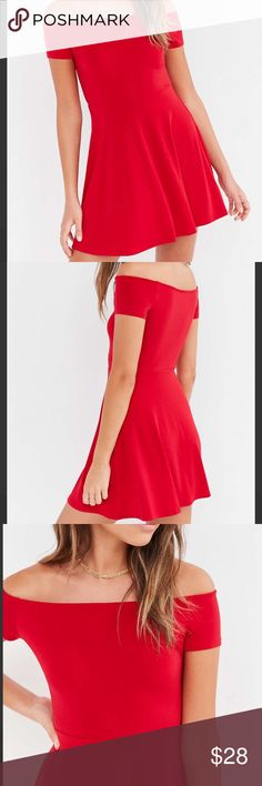 668f547f5e1 Kimchi Blue Knit Crepe Off-the-shoulder Mini Dress Short-sleeve off-