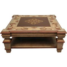 furniture :: coffee tables :: ornately carved square coffee table