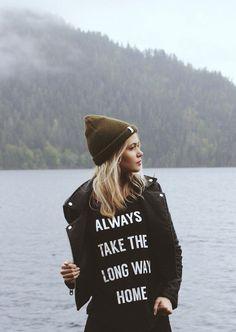 Always Take The Long Way Home Cap Sleeve Crew T-Shirt