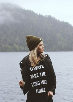 Always Take The Long Way Home Cap Sleeve Crew T-Shirt
