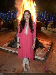 Acclaimed jewellery designer Roopa Vohra during her lohri celebrations, held in Mumbai, on January 16, 2014.