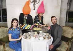 "Anna Kendrick and Justin Timberlake premiered ""True Colors"" from ""Trolls…"
