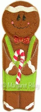 Gingerbread Man Landscape Brick- @Candace Trent-Kotras I have some, ok a lot, left over!! These would be so cute to make