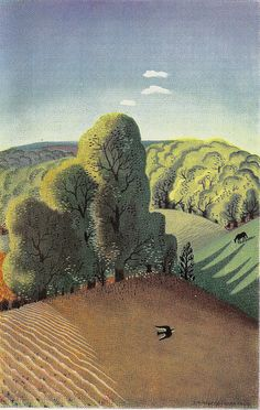 London Transport poster by Edward McKnight Kauffer, 1939 by mikeyashworth, via Flickr.  Mmmm, the english countryside.