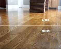 Quick Shine brings out the natural beauty of your hardwood, tile, laminate, stone, and vinyl floors.    Have you had a Quick Shine transformation, like the one below? Share it with us: https://www.facebook.com/QuickShineFloorFinish?v=app_448952861833126=1 to win a $500 The Home Depot shopping spree!