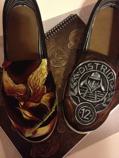 Hand Painted Hunger Games Shoes | I want this person to make me a pair!