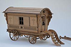Gypsy Caravan Kit construir tu miniatura de por AgedWithThyme