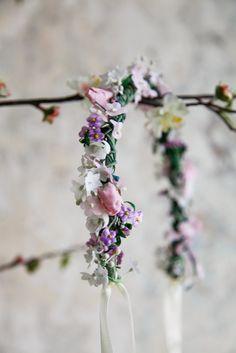 Handmade flower crown from Vienna. ❤ Exclusive custom made wedding crowns for brides ❤ Blumenkranz handgemacht in Wien anfertigen lassen. Boho, Handmade Flowers, Flower Crown, Headpiece, Bridesmaids, Design, Wedding, Floral Wreath, Getting Married