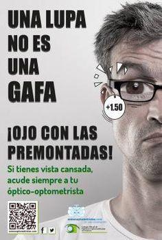 MultiOpticas Perez Setien 3: Las #gafasdecerca, mejor en tu #óptica de confianza.  No uses lupas para la #presbicia.