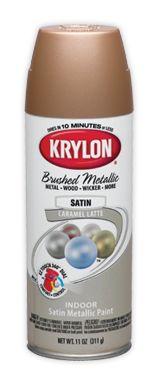 #Krylon Brushed Metallic Spray Paint #Craft