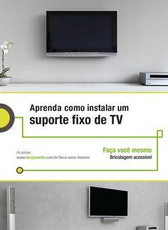 Quer colocar a sua TV onde bem entender? Então, é só seguir os passos da nossa Ficha de Bricolagem. :) http://leroy.co/1GxxexI