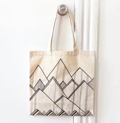 Cool Mountains Tote Bag by hellosleepywhale on Etsy, $22.00