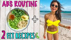 WHAT I EAT VEGAN FOR A FLAT STOMACH + ABS ROUTINE! 🌿Rawvana